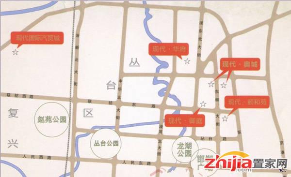 现代海棠湾 交通图