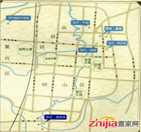 现代华府 项目区域位置图