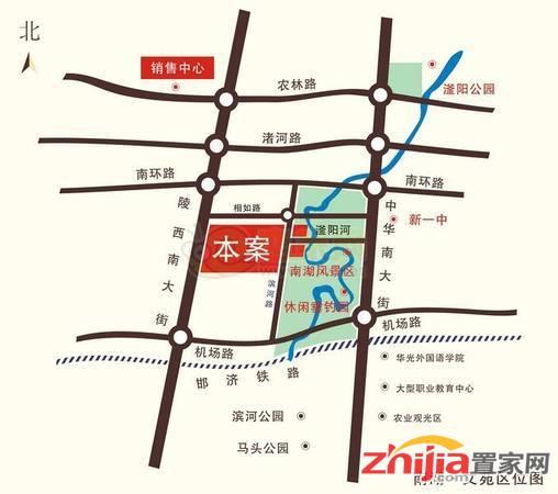 南湖文苑 交通图