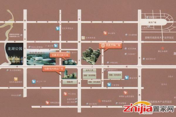 创鑫阳光城 区位图