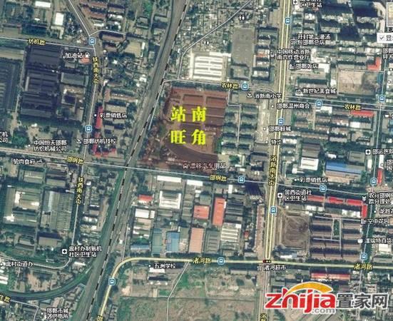 站南旺角 卫星图