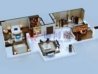勒泰中心 立体户型渲染图3#38F01