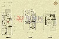 卓达·香水海一期英伦湾3室3厅3卫户型图