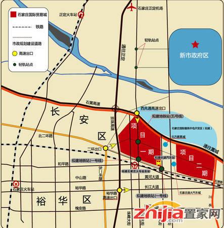 石家庄乐城国际贸易城 区位图