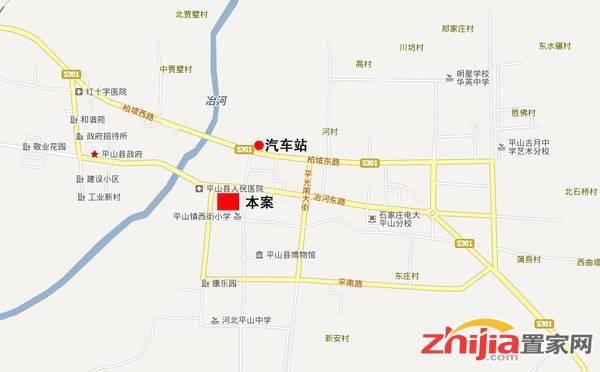 平山北国商城 区位图
