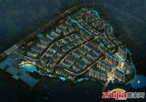 裕庭·龙水湾 夜景鸟瞰效果图