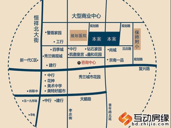 北城枫景 位置图