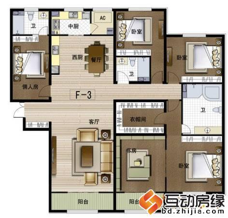 華中國宅華園 戶型圖