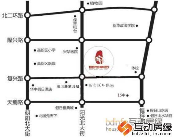 华中国宅华园 区位图