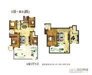 香江东湖印象5室3厅3卫户型图