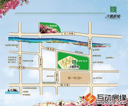 天籁新城 区位图