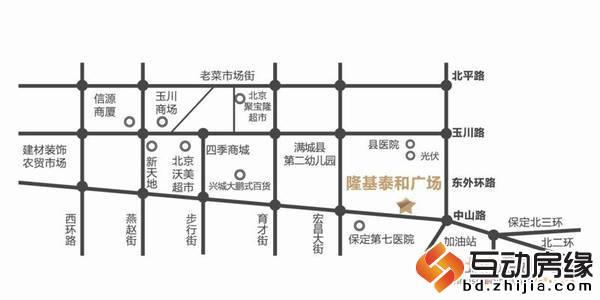 隆基泰和广场 区位图