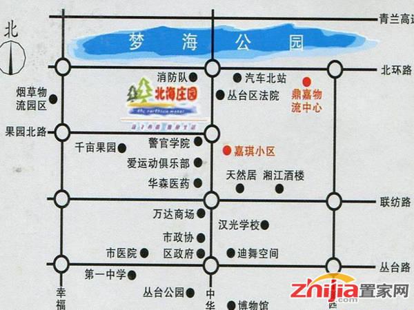 北海庄园二期 交通图