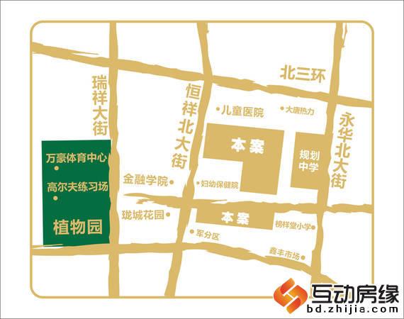 荣联天下城 区位图
