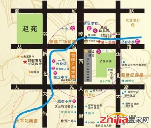 恒隆广场 交通图