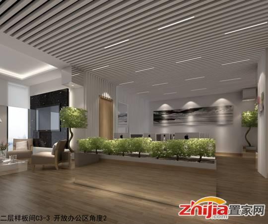 安联·新青年广场 二层C3-3 开放办公区角度2