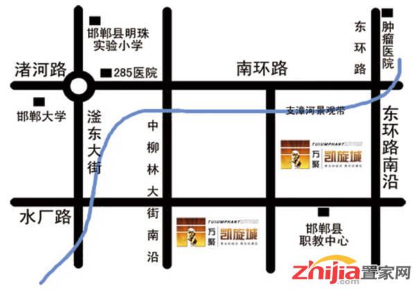 万聚·凯旋城 交通图