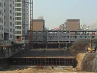 胜利花园 项目商品楼正在做地下负一层
