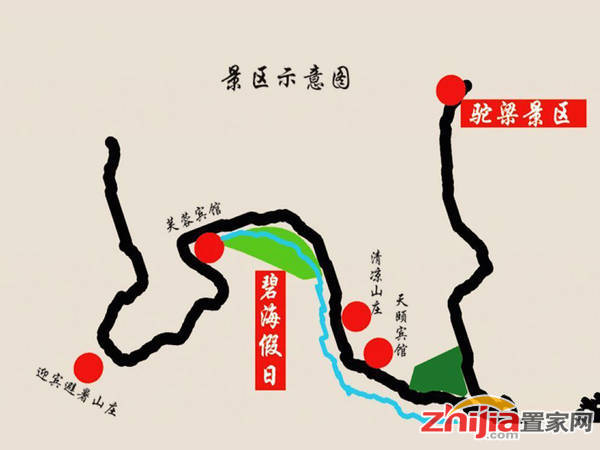 碧海假日酒店·公寓 区位图