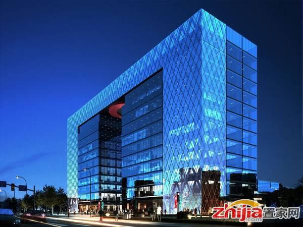 润江·总部国际 高层厂房夜景效果图