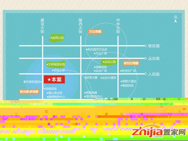 阳光新卓广场 区位示意图