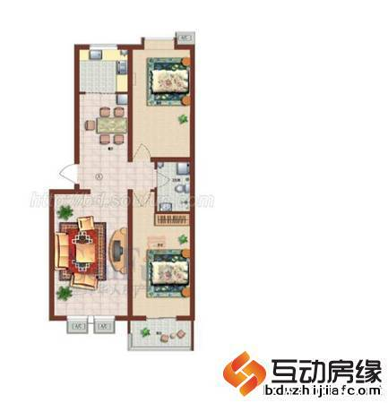 户型图-正兴鑫苑-保定小区信息-保定互动房缘网