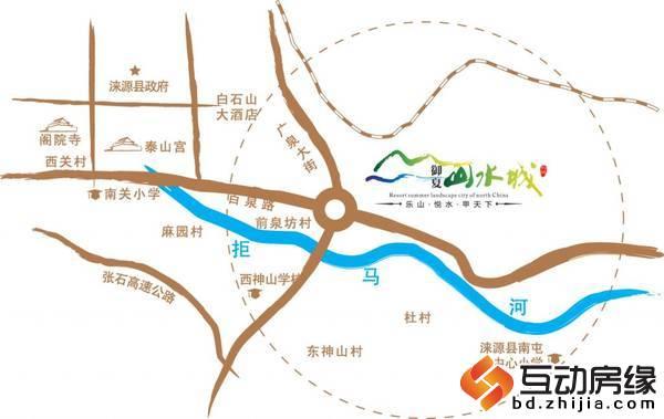御夏山水城 交通图