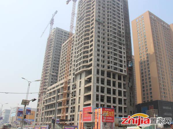 赵都财富中心 正在进行外立面找平工作(2014-05-22)