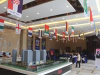 阳光新卓广场 世界杯装扮的售楼部
