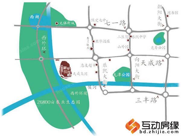 苏堤杭城 交通图