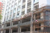 文新大厦 外立面装潢接近尾声。2014-07-14