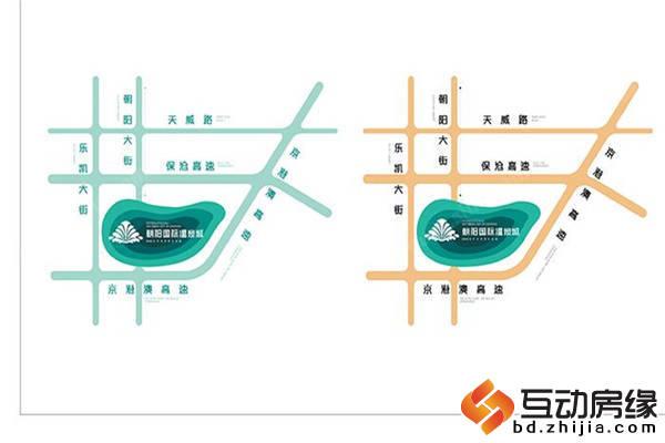 朝阳国际温泉城 御泉美墅 区位图