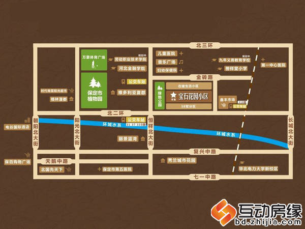 宝石花园 交通图