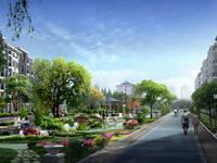 江泉富力城 小区环境效果图