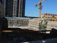 天兆大厦 正在进行地基防水(2014-09-04)