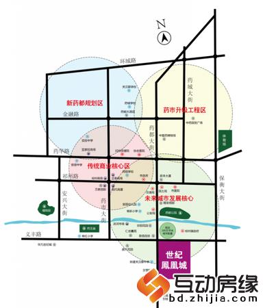 世纪凤凰城 区位图