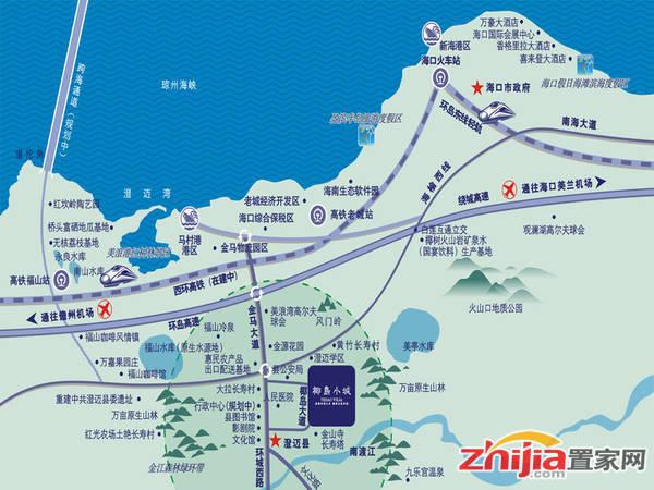 椰岛小城 区位图