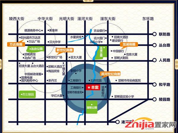 滨河世纪大厦 交通图