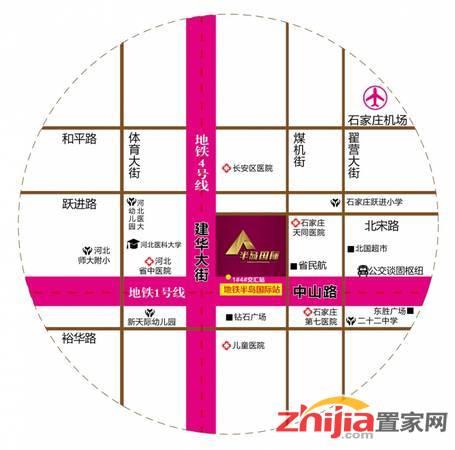 建华城市广场 区位图