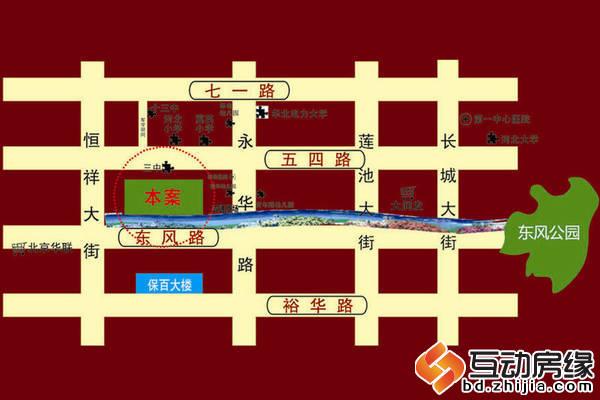 華大國際中心 交通圖