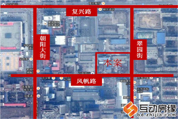 翠园公寓 区位图