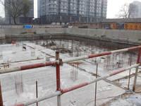 泰达大厦 地下防水作业