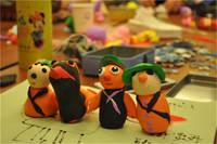華中國宅華園 1月10日華中地產周末歡騰DIY   親子拼圖樂無限活動濃情上演小朋友的粘土成品