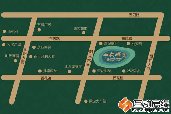 中央峰景B区 区位图