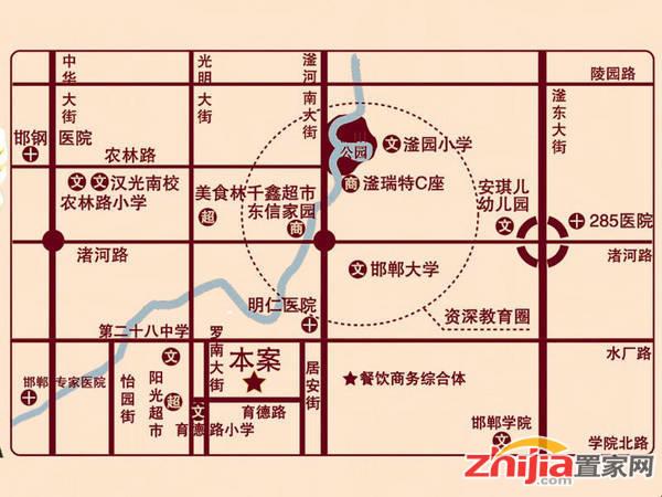 华天金街 交通图