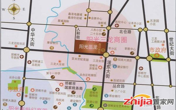 三龙会馆 交通图