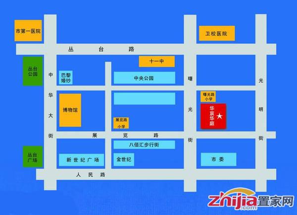 华宸华庭 项目区位图