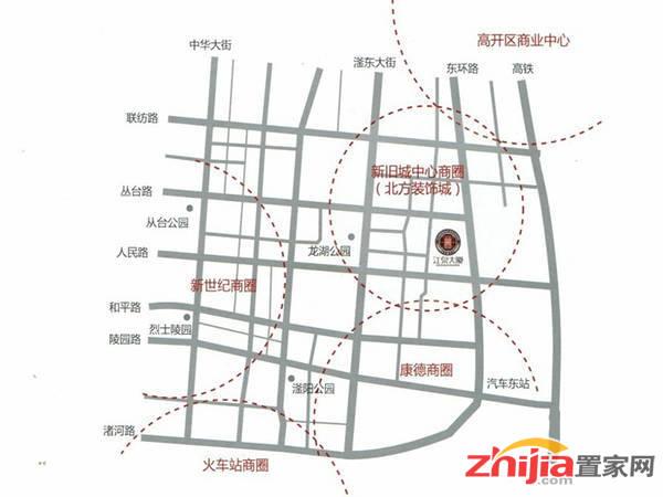 江泉大厦 交通图