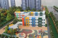 万浩金百合 售楼处沙盘之配套市幼儿园机构