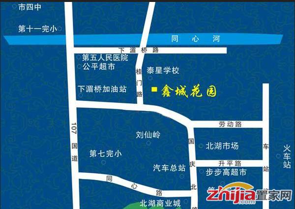 鑫城花园 交通图